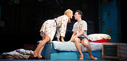 Suranne Jones as Sandra. Jake Davies as Jamie..Beautiful Thing by Jonathan Harvey, the Art's Theatre, London, Great Britain, April 16, 2013, April 22, 2013. Photo by: Elliott Franks / i-Images