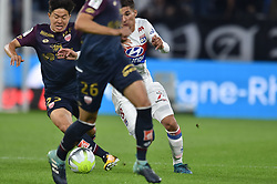 September 23, 2017 - Decines Charpieu - Groupama Sta, France - Houssem Aouar (lyon) vs Changhoon Kwon  (Credit Image: © Panoramic via ZUMA Press)