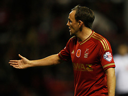 David Vaughan of Nottingham Forest with the Remembrance Day Poppy on his shirt - Mandatory byline: Jack Phillips / JMP - 07966386802 - 6/11/2015 - FOOTBALL - The City Ground - Nottingham, Nottinghamshire - Nottingham Forest v Derby County - Sky Bet Championship