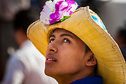 "10 JANUARY 2007 - MANAGUA, NICARAGUA: Nicaraguan folkloric dancers wait to perform at the inauguration of Daniel Ortega in Managua. Ortega, the leader of the Sandanista Front, was sworn in as the President of Nicaragua Wednesday. Ortega and the Sandanistas ruled Nicaragua from their victory of ""Tacho"" Somoza in 1979 until their defeat by Violetta Chamorro in the 1990 election.  Photo by Jack Kurtz"