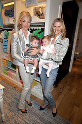 Left to right, TAMARA BECKWITH and her daughter VIOLET and MALIN JEFFERIES and her daughter COCO at 'Paint Your Polo Celebration' a children's party in aid of the charity Clic Sargent held at Ralph Lauren, 139/141 Fulham Road, London on 28th April 2009.