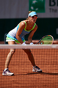 Paris, France - 2017 June 02: Alicja Rosolska from Poland looks forward while her women's double match second round during tennis Grand Slam tournament The French Open 2017 (also called Roland Garros) at Stade Roland Garros on June 02, 2017 in Paris, France.<br /> <br /> Mandatory credit:<br /> Photo by &copy; Adam Nurkiewicz<br /> <br /> Adam Nurkiewicz declares that he has no rights to the image of people at the photographs of his authorship.<br /> <br /> Picture also available in RAW (NEF) or TIFF format on special request.<br /> <br /> Any editorial, commercial or promotional use requires written permission from the author of image.