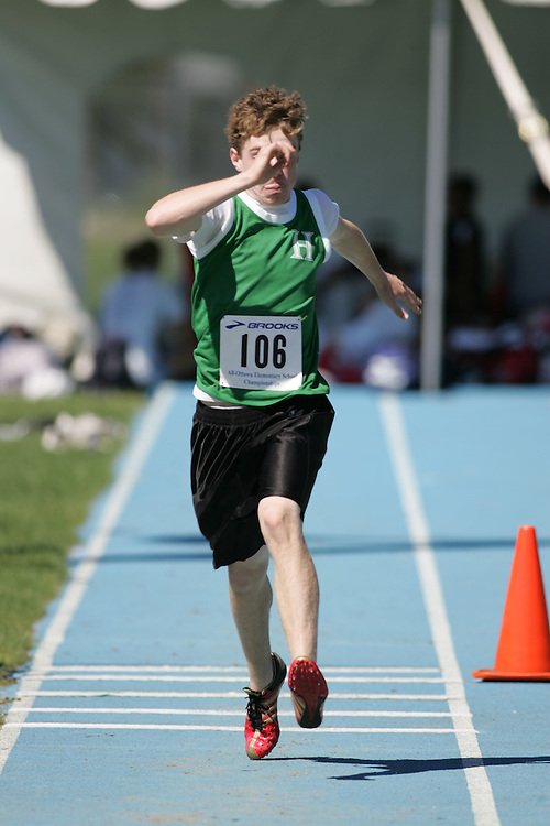 Bob Gallinger competing in the triple jump at the 2007 Ontario Legion Track and Field Championships. The event was held in Ottawa on July 20 and 21.
