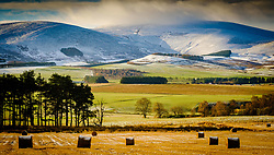 Snow clouds over Tinto Hill in South Lanarkshire Scotland on a cold winter morning.<br /> <br /> (c) Andrew Wilson | Edinburgh Elite media