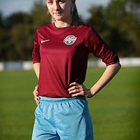 Nederland, Hoofddorp, 4 juni 2015.<br /> WK Vrouwenvoetbal.<br /> Tienermeiden van voetbalvereniging Overbos.<br /> Op de foto:Lois Haaima<br /> <br /> <br /> <br /> Foto: Jean-Pierre Jans