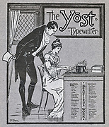 Advertisement for the Yost typewriter, 1901