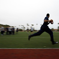 Terelle Pryor works out at Steve Clarkson's quarterback camp.