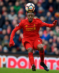 LIVERPOOL, ENGLAND - Saturday, January 28, 2017: Liverpool's Divock Origi in action against Wolverhampton Wanderers during the FA Cup 4th Round match at Anfield. (Pic by David Rawcliffe/Propaganda)