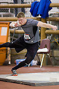 "Barlow Oregon high school senior, Ryan Crowser throws the 16 pound shot 63' 11"" for a new United States HS record in the Jackson's Invitational at the Jackson's Indoor facilitiy in Nampa, Idaho."