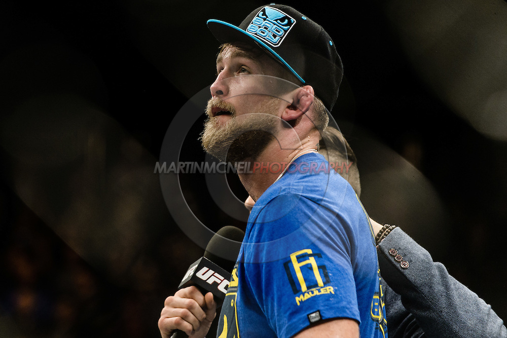 "LONDON, ENGLAND, MARCH 8, 2014: Alexander Gustafsson during ""UFC Fight Night: Gustafsson vs. Manuwa"" inside the O2 Arena in Greenwich, London on Saturday, March 8, 2014 (© Martin McNeil)"