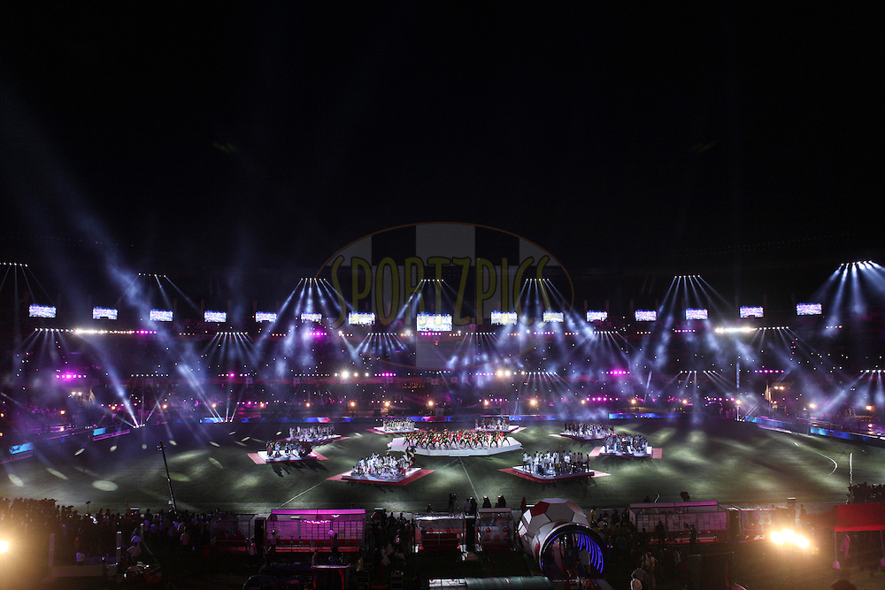 Opening ceremoney going on during The Opening Ceremony of the Hero Indian Super League held at the Salt Lake Stadium in Kolkata, West Bengal, India on the 12th October 2014.<br /> <br /> Photo by:  Saikat Das/ HISL/ SPORTZPICS