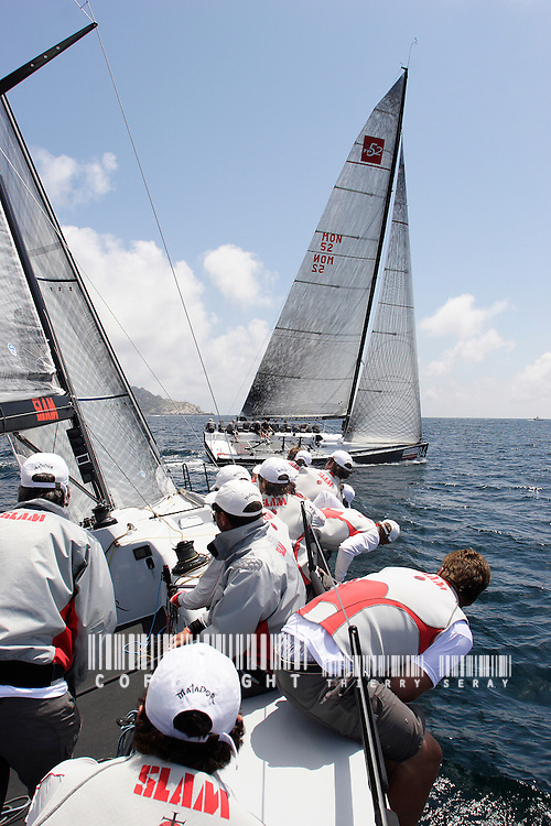 AUDI MED CUP-TP 52 SERIES-MARSEILLE.COPYRIGHT : THIERRY SERAY/DPPI..ON BOARD MATADOR VOILE-EQUIPAGES-SAILING CREW-PART.1