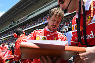 Sebastian Vettel of Scuderia Ferrari during the Spanish Formula One Grand Prix at Circuit de Catalunya, Barcelona<br /> Picture by EXPA Pictures/Focus Images Ltd 07814482222<br /> 14/05/2017<br /> *** UK &amp; IRELAND ONLY ***<br /> <br /> EXPA-EIB-170514-0101.jpg
