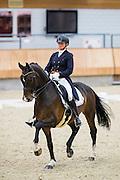 Joyce van Schaick - Well Done Sollenburg<br /> KNHS Indoorkampioenschappen 2017<br /> © DigiShots