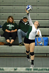 28 October 2016:  Colleen Rynne during an NCAA womens division 3 Volleyball match between the DePauw Tigers and the Illinois Wesleyan Titans in Shirk Center, Bloomington IL