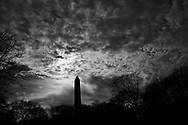 The Central Park Obelisk aka Cleopatra's Needle, tickling the clouds.
