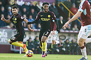 Manchester City midfielder Raheem Sterling during the Premier League match between Burnley and Manchester City at Turf Moor, Burnley, England on 26 November 2016. Photo by Pete Burns.