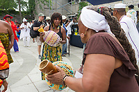 """Friends and family came together Sunday afternoon to pay tribute to jazz musician and founding member of the Association for the Advancement of Creative Musicians, Kelan Phil Cohran who passed away June 28th, 2017 at the age of 90. The event took place at the 63rd Street Beach House located on 63rd and the lakefront.<br /> <br /> 8951, 8958 – Aina Jinaki and Sabra Amen dance to the music.<br /> <br /> Please 'Like' """"Spencer Bibbs Photography"""" on Facebook.<br /> <br /> Please leave a review for Spencer Bibbs Photography on Yelp.<br /> <br /> All rights to this photo are owned by Spencer Bibbs of Spencer Bibbs Photography and may only be used in any way shape or form, whole or in part with written permission by the owner of the photo, Spencer Bibbs.<br /> <br /> For all of your photography needs, please contact Spencer Bibbs at 773-895-4744. I can also be reached in the following ways:<br /> <br /> Website – www.spbdigitalconcepts.photoshelter.com<br /> <br /> Text - Text """"Spencer Bibbs"""" to 72727<br /> <br /> Email – spencerbibbsphotography@yahoo.com"""