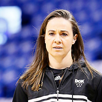 06 May 2016:  San Antonio Spurs Assistant Coach Becky Hammon is seen prior to the San Antonio Spurs 100-96 victory over the Oklahoma City Thunder, during Game Three of the Western Conference Semifinals of the NBA Playoffs at the Chesapeake Energy Arena, Oklahoma City, Oklahoma, USA.