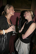 OLIVIA KEMP AND EMMA BLAKE, Literary Review's Bad Sex In Fiction Prize.  In & Out Club (The Naval & Military Club), 4 St James's Square, London, SW1, 29 November 2006. <br />Ceremony honouring author who writes about sex in a 'redundant, perfunctory, unconvincing and embarrassing way'. ONE TIME USE ONLY - DO NOT ARCHIVE  © Copyright Photograph by Dafydd Jones 248 CLAPHAM PARK RD. LONDON SW90PZ.  Tel 020 7733 0108 www.dafjones.com