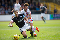 Dundee's Darren O'Dea and Ross County's Alex Schalk. Dundee 1 v 2 Ross County, Scottish Premiership game played 5/8/2017 at Dundee's home ground Dens Park.