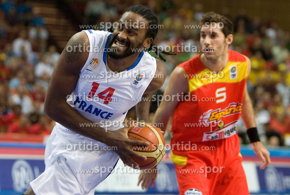 Ronny Turiaf during the EuroBasket 2009 Quaterfinals match between Spain and France, on September 17, 2009 in Arena Spodek, Katowice, Poland.  (Photo by Vid Ponikvar / Sportida)