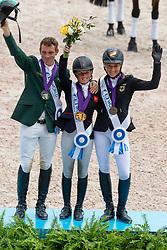 Indisvidual Podium, Canter Rosalind, GBR, McCarthy Padraig, IRL, Klimke Ingrid, GER<br /> World Equestrian Games - Tryon 2018<br /> © Hippo Foto - Dirk Caremans<br /> 17/09/2018