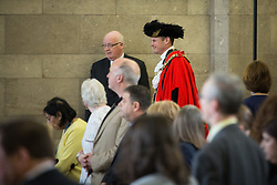 © Licensed to London News Pictures . 13/07/2016. Manchester , UK . Lord Mayor , CLLR CARL AUSTIN-BEHAN , former Mr Gay UK , who was dismissed from the RAF in 1997 because of his sexuality . Proceedings at a Manchester City Council meeting , at the Town Hall in Manchester . Photo credit: Joel Goodman/LNP