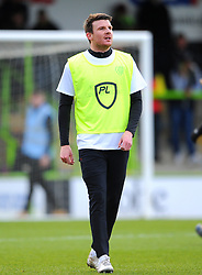 Chris Stokes of Forest Green Rovers warms up- Mandatory by-line: Nizaam Jones/JMP - 08/02/2020 - FOOTBALL - New Lawn Stadium - Nailsworth, England - Forest Green Rovers v Walsall - Sky Bet League Two