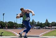 Jun 30, 2019; Stanford, CA, USA; Ryan Crouser (USA) places second in the shot put at 72-9 (22.17m) during the 45th Prefontaine Classic at Cobb Track & Angell Field.