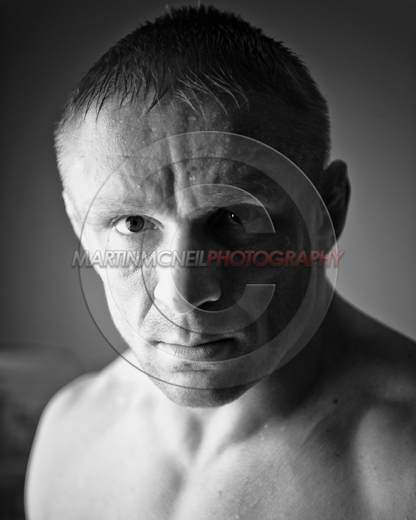 A portrait of mixed martial arts athlete Dennis Siver