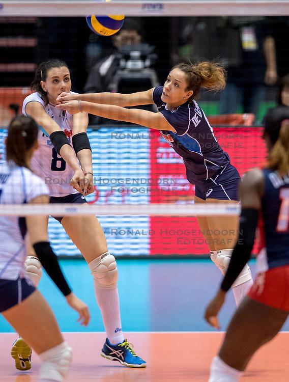 17-05-2016 JAP: OKT Dominicaanse Republiek - Italie, Tokio<br /> Itali&euml; verslaat Dominicaanse Republiek  met 3-0 / Monica De Gennaro #6 of Italie, Alessia Gennari #8 of Italie