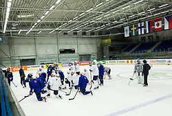 Matjaz Kopitar, head coach Slovenia with players during practice session of Slovenina Ice Hockey National Team at Day 4 of 2015 IIHF World Championship, on May 4, 2015 in Practice arena Vitkovice, Ostrava, Czech Republic. Photo by Vid Ponikvar / Sportida