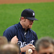 April 27, 2009 - Detroit, MI. Detroit Tigers pitcher #29, Nate Robertson, signs autographs for fans.