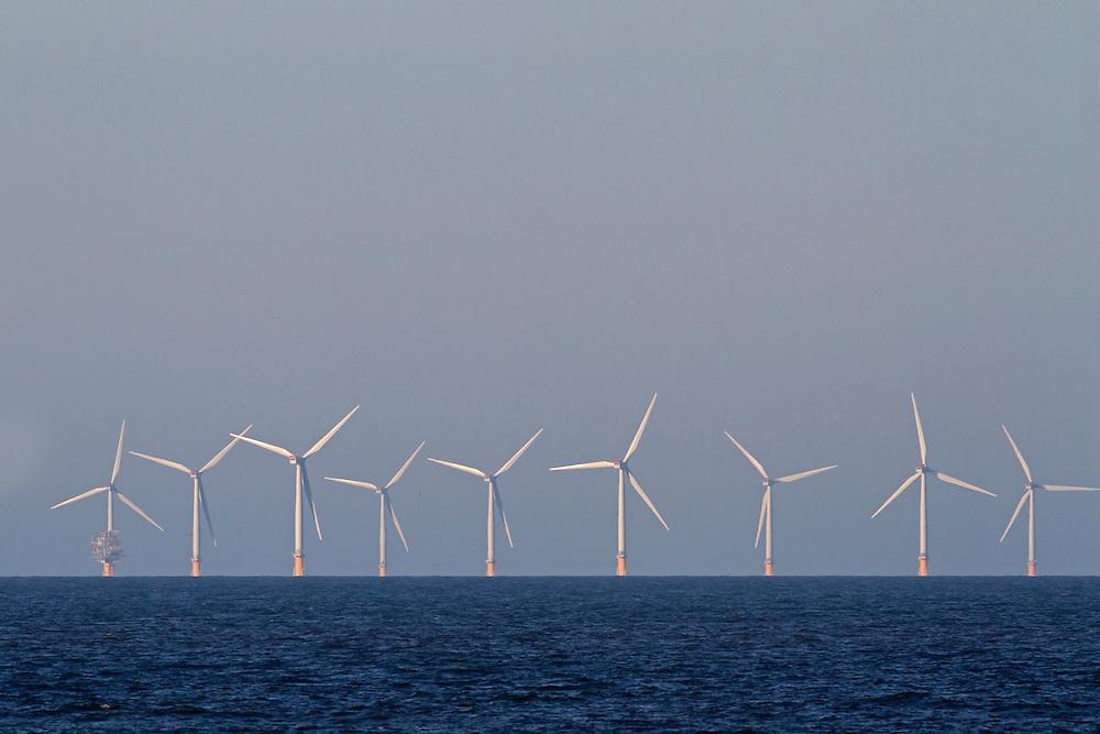 Off-shore wind turbines, Sheringham shoal, Norfolk UK