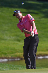 May 2, 2019 - Charlotte, NC, U.S. - CHARLOTTE, NC - MAY 02: Webb Simpson chips to the 14th green during the first round of the Wells Fargo Championship at Quail Hollow on May 2, 2019 in Charlotte, NC. (Photo by William Howard/Icon Sportswire) (Credit Image: © William Howard/Icon SMI via ZUMA Press)