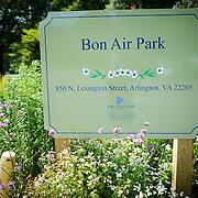 Sign for Bon Air Park in Arlington, Virginia.