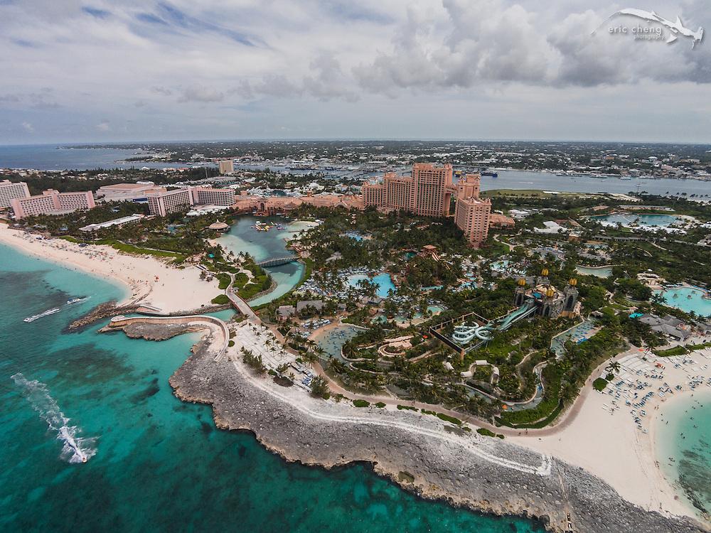 An aerial view of Atlantis resort, Nassau, Bahamas
