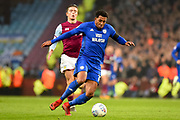 Cardiff City midfielder Nathaniel Mendez-Laing (19) sprints forward with the ball  during the EFL Sky Bet Championship match between Aston Villa and Cardiff City at Villa Park, Birmingham, England on 10 April 2018. Picture by Dennis Goodwin.