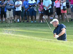 August 10, 2018 - St. Louis, Missouri, U.S. - ST. LOUIS, MO - AUGUST 10: Jordan Spieth hits out of a trap on the #10 green during the second round of the PGA Championship on August 10, 2018, at Bellerive Country Club, St. Louis, MO.  (Photo by Keith Gillett/Icon Sportswire) (Credit Image: © Keith Gillett/Icon SMI via ZUMA Press)