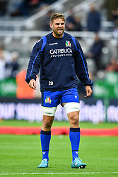 Dean Budd of Italy during the pre match warm up<br /> <br /> Photographer Craig Thomas/Replay Images<br /> <br /> Quilter International - England v Italy - Friday 6th September 2019 - St James' Park - Newcastle<br /> <br /> World Copyright © Replay Images . All rights reserved. info@replayimages.co.uk - http://replayimages.co.uk