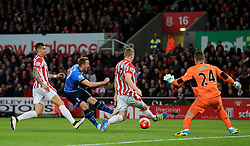 Shay Given of Stoke City saves a hot from Harry Kane of Tottenham Hotspur  - Mandatory by-line: Matt McNulty/JMP - 18/04/2016 - FOOTBALL - Britannia Stadium - Stoke, England - Stoke City v Tottenham Hotspur - Barclays Premier League