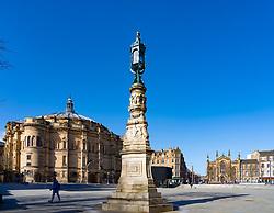 View of Bristo Square in Edinburgh, Scotland UK