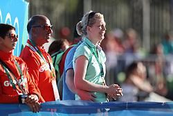 Arns-Krogmann, Christine;<br /> Theodorescu, Monica (GER);<br /> Hilberath, Jonny (GER) <br /> Rio de Janeiro - Olympische Spiele 2016<br /> Grand Prix de Dressage 2. Teil<br /> © www.sportfotos-lafrentz.de / Stefan Lafrentz
