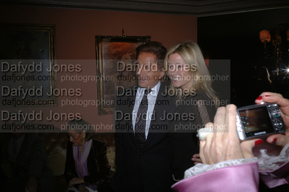 Valentino with princess Marie-Chantal of Greece, Valentino couture show, Ecole Nationale Superiore des Beaux -Arts, rue Bonaparte. After party at the Ritz. 23 January  2006.  ONE TIME USE ONLY - DO NOT ARCHIVE  © Copyright Photograph by Dafydd Jones 66 Stockwell Park Rd. London SW9 0DA Tel 020 7733 0108 www.dafjones.com