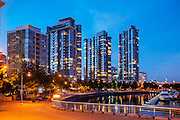 Residential apartment towers in Vancouver's Yaletown Neighbourhood.  Vancouver Real Estate.