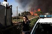 Mount Vesuvius on fire