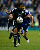 Photo: Steve Bond/Richard Lane Photography. Leicester City v Peterborough United. Coca-Cola Football League One. 20/12/2008. Chris Westwood (front) shields the ball from Matty Fryatt