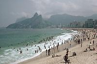 April 1986, Ipanema, Rio de Janeiro, Brazil --- Recreation at Rio de Janeiro Beach --- Image by © Owen Franken/CORBIS