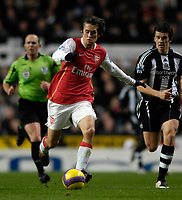 Photo: Jed Wee/Sportsbeat Images.<br /> Newcastle United v Arsenal. The FA Barclays Premiership. 05/12/2007.<br /> <br /> Arsenal's Tomas Rosicky.